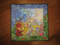 Art Quilt Sunshine Garden Wall Hanging $128 by TahoeQuilts on Etsy