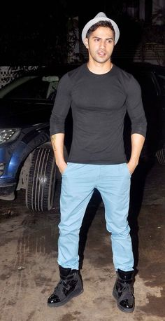 Varun Dhawan at special screening of 'Finding Fanny'. #Bollywood #Fashion #Style #Handsome