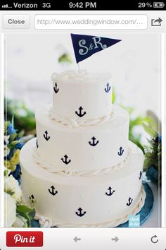 Sailor themed cake.