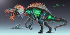Radioactive-Dino by Davesrightmind on DeviantArt