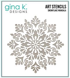 Gina K. Designs Art Screens can be used with ink, sprays, pastes, and gels to create beautiful backgrounds and images. Layer stencils together for more options. Wash with soap and warm water. X Made in USA Snowflake Stencil, Mandala Stencils, Stencil Patterns, Stencil Designs, Stencil Painting, Craft Stencils, Bird Stencil, Black Painting, Damask Stencil