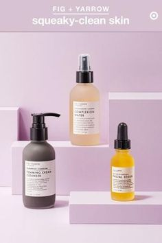 Looking to keep your skin squeaky clean all summer long? Try switching up your regimen in warmer months. Start with Fig + Yarrow Foaming Cream Cleanser, made with charcoal to detox skin and fight acne Natural Facial Cleanser, Facial Serum, Natural Skin Care, Beauty Photography, Product Photography, Design Set, Winter Beauty Tips, Fig And Yarrow, Acne Causes
