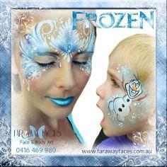 Frozen themed face paint