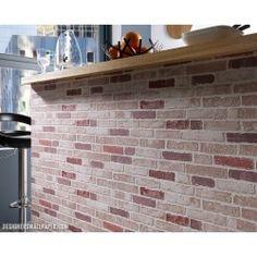 Fesselnd White Grey Brick Wallpaper
