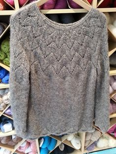 dropsdesign pattern 150-7 by Laines et Soi in #garnstudio Brushed Alpaca Silk #knitting #handmade