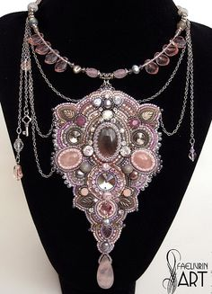 Beautiful embroidered jewelry by Natalia Volodeva | Beads Magic