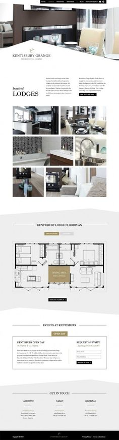 Real estate, unique layout, clean color palette, layout