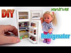 DIY Realistic Miniature Refrigerator   DollHouse   No Polymer Clay! - YouTube