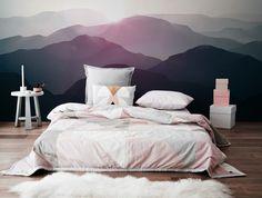 mountain landscape wall mural ⛰ #bedroom #home #landscapedesign #walldecor