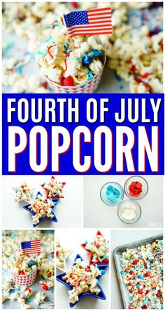 An easy to make 4th of July Popcorn Recipe using candy melts, sprinkles and chocolate. This Fourth of July popcorn features Ricos White Cheddar Popcorn. This patriotic popcorn is sure to get any holiday party popping with its flavorful taste. Ricos variety of popcorn is available at participating stores in Texas. Perfect for game time entertaining, parties, birthdays, holidays, BBQs and more! For complete recipe please visit www.modernmomlife.com. AD #MakeFlavorPop #Popcorn #4thofJuly…