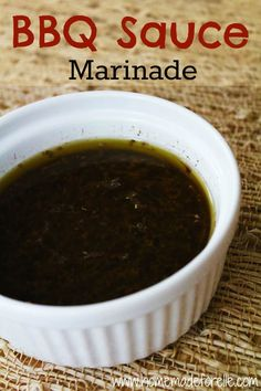 BBQ Sauce Marinade Recipe | Homemadeforelle.com