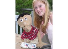 My daughter's 7th grade puppet project - Tiger Woods.
