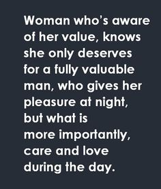 woman who knows her value