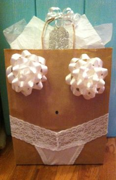 Lingerie shower gift wrap idea! Next person to get married is totally getting this lol