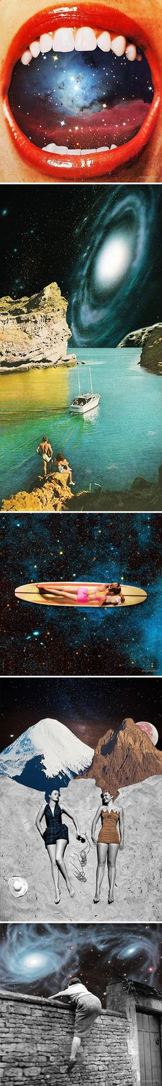 eugenia loli ... outer space collages