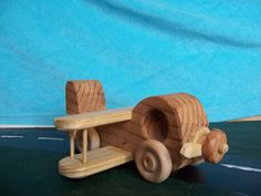 Toy Airplane from Recycled Wood Handcrafted for by Tigerseyecrafts, $20.00