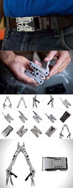 SOG Specialty Knives & Tools SN1011-CP Sync II Easy Wear EDC Everyday Carry Multi-Tool; Belt Buckle or clip to Pack; 12 Tools @aegisgears