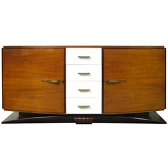 Very Elegant Art Deco Sideboard | From a unique collection of antique and modern sideboards at http://www.1stdibs.com/furniture/storage-case-pieces/sideboards/