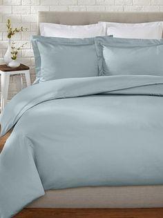 57% OFF Westport Linens 500 TC Egyptian Cotton Duvet Set (Blue)