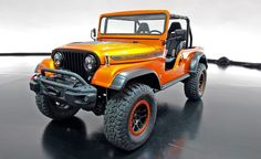 Get Your Kicks: Concept Melds Generations of Jeeps with Modern Mopar Hardware - Photo Gallery of Auto Show from Car and Driver - Car Images - Car and Driver Jeep Cj6, Jeep Truck, Jeep Willys, Jeep Concept, Concept Cars, Motorcycle Camping, Camping Gear, Jeep Scrambler, Jeep Mods