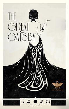 The Great Gatsby Art Deco Design, Book Design, Vintage Posters, Vintage Art, Image Deco, Plakat Design, Poster Art, Illustration Art Drawing, The Great Gatsby