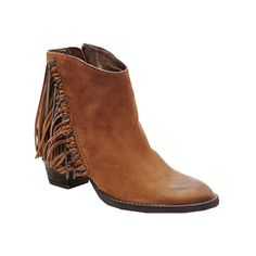 Women's Dolce Vita Juneau Fringe Ankle Boot - Teak Nubuck Casual ($200) ❤ liked on Polyvore featuring shoes, boots, ankle booties, teak nubuck, dolce vita, zip boots, fringe boots, bootie boots and fringe ankle booties
