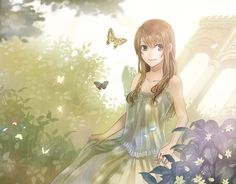 what i look like in an anime fary garden :D