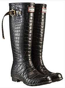 100 Hot Hipster Accessories / Designer Rain Boots - Couture Hunter Wellingtons by Jimmy Choo