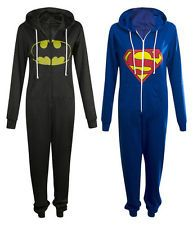 Ladies Girls Ultimate Superhero Batman Superman Onesie
