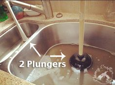 how to unclog a double sink - Kitchen Sink Backed Up