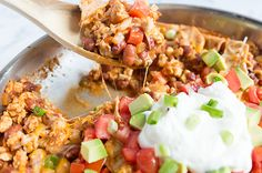Easy Cheesy Burrito Skillet recipe