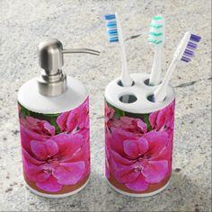 Photo Art Genuine Design by Kat Worth Soap Dispenser And Toothbrush Holder - bathroom idea ideas home & living diy cyo bath Kitsch, Diy Design, Design Art, Custom Design, Sketch Design, Graphic Design, Christmas Bathroom Sets, Flamingo Bathroom, Coral Bathroom