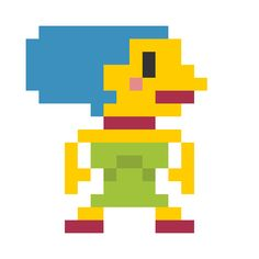 pixelated-cartoon-characters-marge-simpson