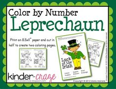 FREE! Color by Number Leprechaun
