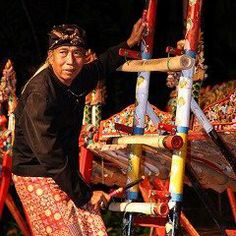 Pekak Jegog - the grandfather of jegog music in Bali - I Ketut Suwentra. Jegog music is created on giant bamboo gamelan instruments, and hails from west Bali.