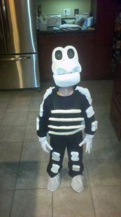 Dry Bones from Super Mario... This is what my son wants to be for halloween! LOL