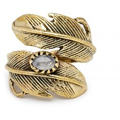 Natalie B Light As A Feather Ring ($24) ❤ liked on Polyvore