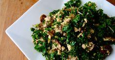 Kale et champignons