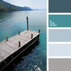 the pier and the water / shades of blues and soft browns / greys / color palette