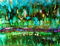 """Biggest yet alcohol ink painting 20"""" x 26"""""""