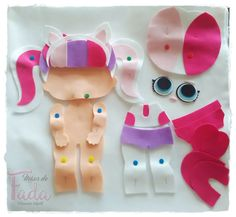 Best 12 Cutest Felt Toys you will simply adore – Unique Crafts – SkillOfKing. Diy And Crafts, Crafts For Kids, Felt Templates, Baby Mobile, Unicorn Crafts, Felt Baby, Lol Dolls, Felt Toys, Doll Crafts