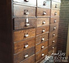I found this at west end salvage - an old storage cabinet.  I would LOVE something like this in my craft room.