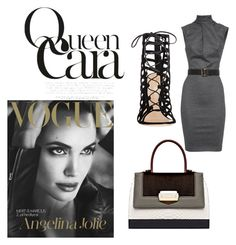 """""""NYC Business"""" by daijah-escobar on Polyvore featuring Dsquared2, The Volon and Gianvito Rossi"""