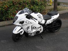Click this image to show the full-size version. Hyabusa Motorcycle, Suzuki Motorcycle, Moto Bike, Custom Hayabusa, Custom Sport Bikes, Stunt Bike, Suzuki Hayabusa, Mode Of Transport, Super Bikes