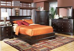 Shop for a Whitmore Cherry Platform  5 Pc King Bedroom at Rooms To Go. Find Bedroom Sets that will look great in your home and complement the rest of your furniture. #iSofa #roomstogo