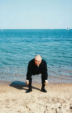 Alfred Hitchcock by Francois Gragnon, 1963 tag: cannes