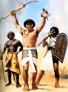 Egyptian warriors- Early New Kingdom soldiers, Nubian mercenary and archer