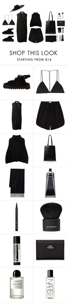 """""""Ultimate Céline sandals"""" by samanthadiorio ❤ liked on Polyvore featuring Dion Lee, Alexander Wang, Base Range, Dolce&Gabbana, Acne Studios, Uniqlo, Grown Alchemist, Bobbi Brown Cosmetics, Givenchy and Aesop"""