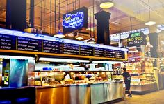 """~ THE NOSH ~ """"Where and What to Eat at Grand Central Market""""  By: Maria Zizka via KCET on  September 15, 2014.       A segment on KCET's award-winning TV show """"SoCal Connected.""""   Pictured is Saritas Pupuseria, Grand Central Market."""