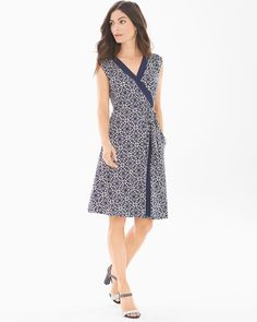 """Make an entrance in this colorblocked short dress with a flattering faux-wrap design.   Cap sleeves.  Removable tie belt.  Sizes: XS-XXL.  Length: Approximately 38.5"""" from shoulder on body.  95% rayon, 5% spandex. Machine wash. Imported."""